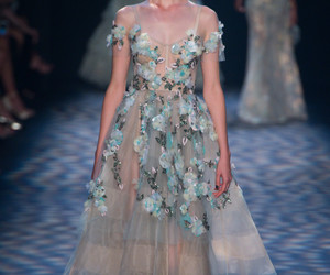 Marchesa, dress, and fashion image