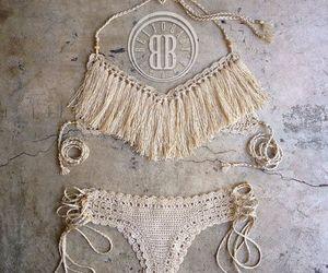 bikini, boho, and summer image