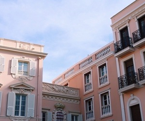 building, pink, and editing image