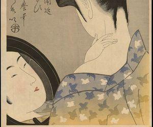 art, japanese art, and kitagawa utamaro image