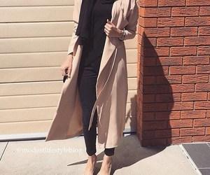 beige, black, and hijab image