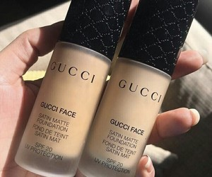 makeup, gucci, and Foundation image