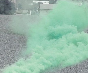green, smoke, and pink image