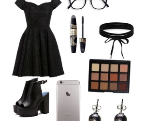 black, dress, and ootd image