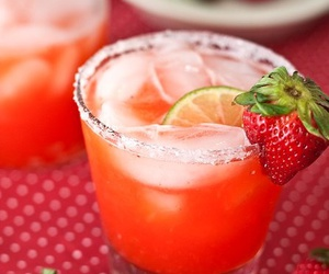 margaritas, strawberry, and drinks image