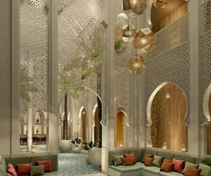 hotel, interior, and moroccan image