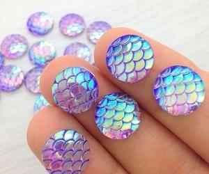 beads, mermaid, and epoxy resin image