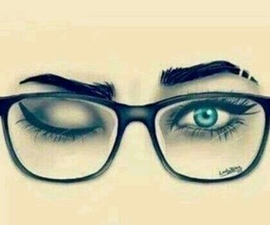 blue, eyes, and glasses image