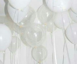 white and ballons image