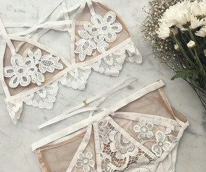 fashion, lingerie, and white image