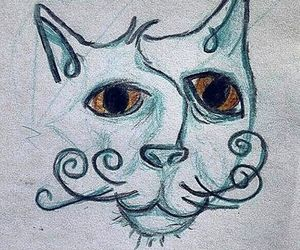 abstract, cat, and art image