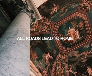 quotes, art, and rome image