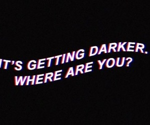 dark, Darkness, and depressed image