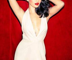 beautiful, red, and selenagomez image
