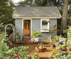 garden, cottage, and home image