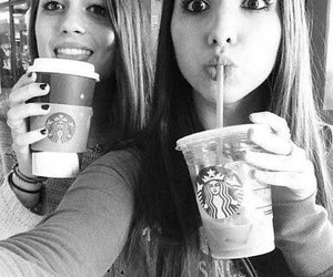 friends, best friends, and starbucks image