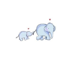 elephant, love, and cute image