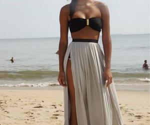 beach, beautiful, and brown image