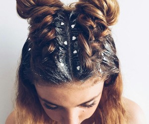 glitter, hair, and styles image