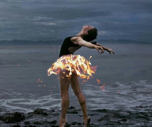 dance, fire, and fantasy image