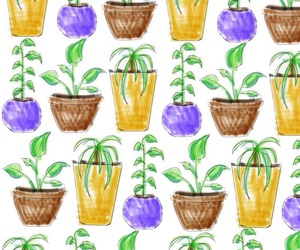 pattern, plants, and wallpaper image