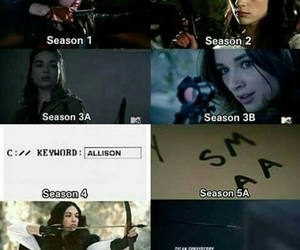teen wolf, allison argent, and brave image