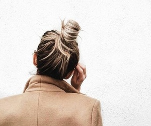 blonde, coat, and hair image