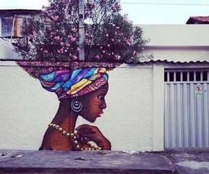 art, flowers, and street image