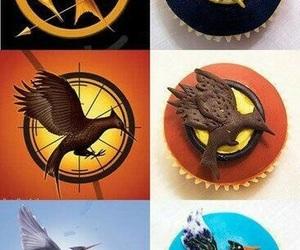 cupcake, hunger games, and mockingjay image