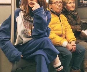 lindsay lohan, underground, and subway image