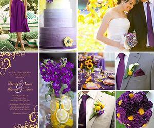 bouquet, bride, and colors image