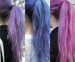 blue, violet, and hair image