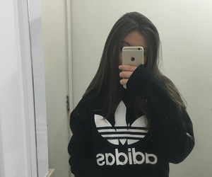 adidas, apple, and girl image