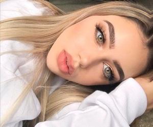 girl, beautiful, and makeup image