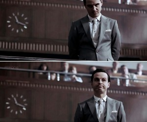 sherlock, andrew scott, and jim moriarty image