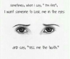 eyes, truth, and sad image
