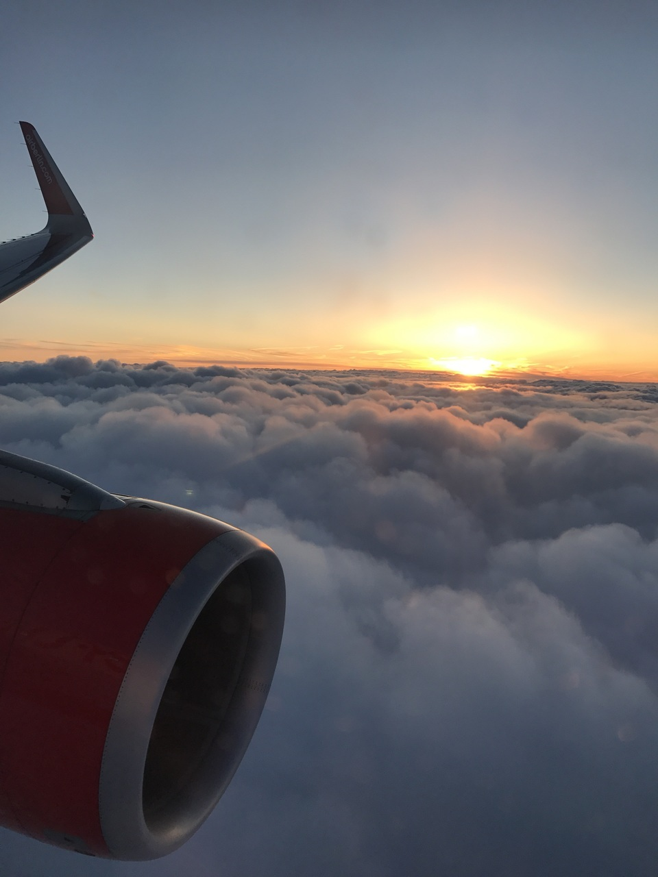 airplane, sun, and travel image
