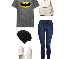 bag, beanie, and jeans image