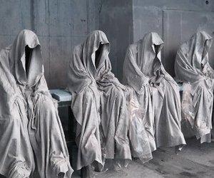 art, monks, and dark image