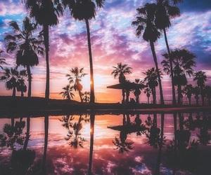 beach, sky, and nature image