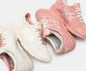 asics, pink, and white image