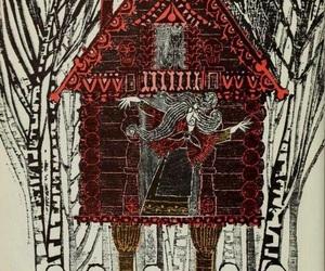 art, baba yaga, and drawing image