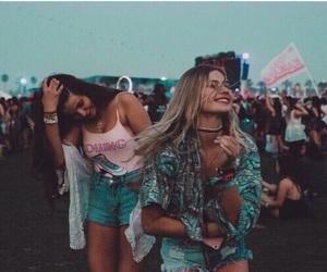 girl, friends, and coachella image