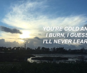 Lyrics, quote, and the1975 image