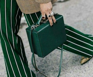 green, bag, and fashion image