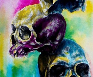 inspiration, skull, and art image