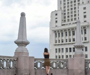 city and girl image