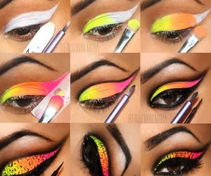 beauty, colorful, and makeup image