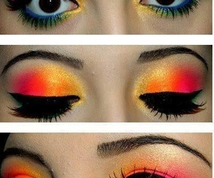 beauty, colorful, and make up image