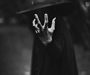 dark, witch, and black image